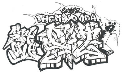 Hip Drawing - Enter The Mind Of A Poet by Nathan Hivick
