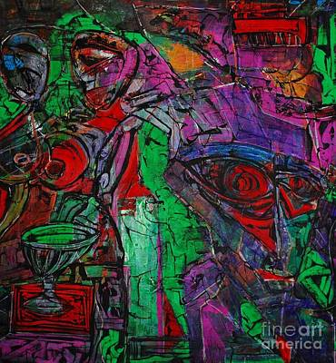 The Void Painting - Enter The Void. 114 X 122 Cm. Original Acrylic Painting.  by Vjacheslav Leschinsky