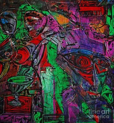 Enter The Void. 114 X 122 Cm. Original Acrylic Painting.  Original