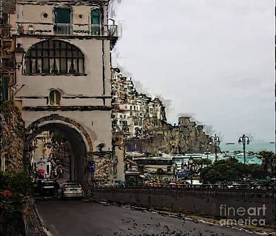 Photograph - Entering Amalfi by Tom Griffithe