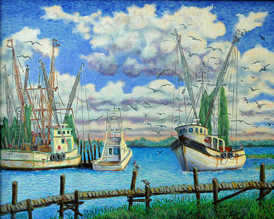 Entering Shem Creek Art Print by Dwain Ray