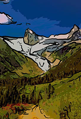 Entering The Bugaboos  2 Art Print
