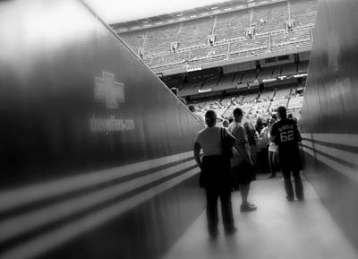 Ny Yankees Digital Art - Entering The Cathedral Of Baseball B/w Soft Focus by Aurelio Zucco
