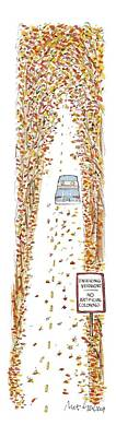 Food Drawing - Entering Vermont by Mort Gerberg