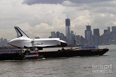 Print featuring the photograph Enterprise To The Intrepid Air And Space Museum by Steven Spak