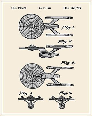 Enterprise Toy Figure Patent - Colour Art Print