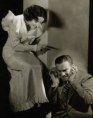 Photograph - Entertainers George Burns And Grace Allen by Lusha Nelson