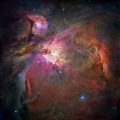 Entire Orion Nebula Maximum Resolution Art Print by L Brown
