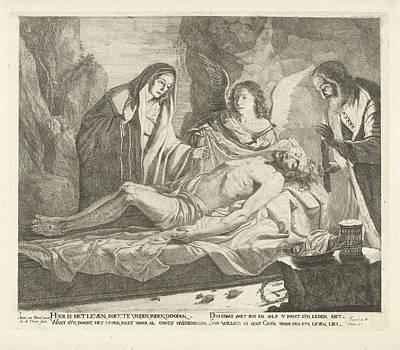 Entombment Of Christ, Guillaume Duvivier 17e Eeuw Art Print by Guillaume Duvivier