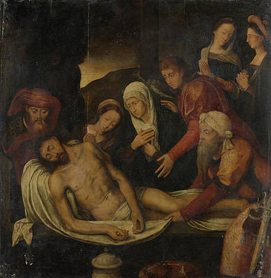 Entombment Of Christ With Joseph Of Arimathea And Nicodemus Art Print