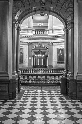 Photograph - Entrance At Michigan State Capital  by John McGraw