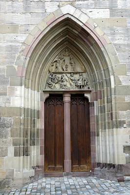 Photograph - Entrance Door Church by Matthias Hauser