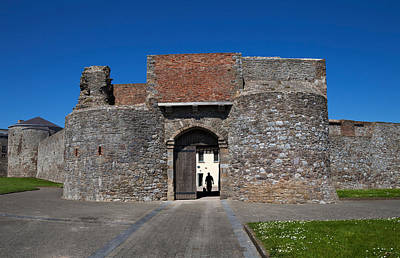 Entrance Gate, King Johns Castle Art Print by Panoramic Images