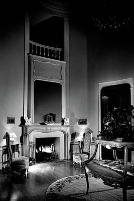 Wooden Floors Photograph - Entrance Hall Of Joan Bennett And Walter Wagner's by Maynard Parker