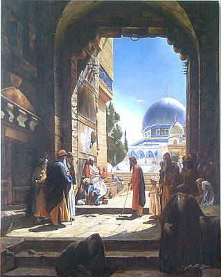 Painting - Entrance by Jaffo Jaffer