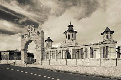 Winery Photograph - Entrance Of A Winery, Chateau Cos by Panoramic Images
