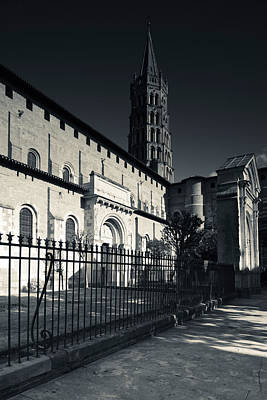 Entrance Of The Basilica Of St. Sernin Art Print by Panoramic Images