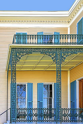 Photograph - Side Porch by Maria Coulson