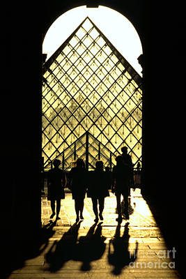 Photograph - entrance pyramid of the Louvre in Paris by Rudi Prott
