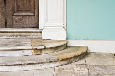 Entrance Door Photograph - Entrance Steps by Tom Gowanlock