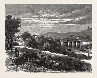 Garden Entrance Drawing - Entrance To Beaumont Park From The Town, Huddersfield by English School