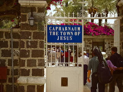 Entrance To Capernaum Original by Sandra Pena de Ortiz