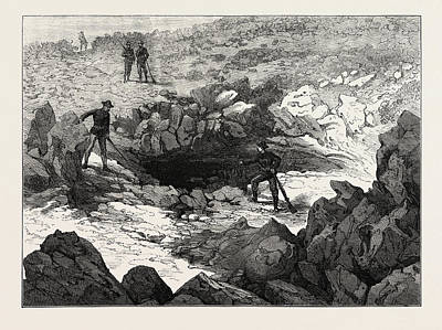 Cavern Drawing - Entrance To Captain Jacks Cave by English School