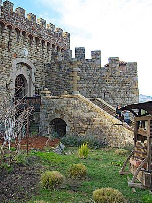 Entrance To Castello Di Amorosa In Napa Valley-ca Art Print