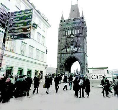 Entrance To Charles Bridge Prague Art Print