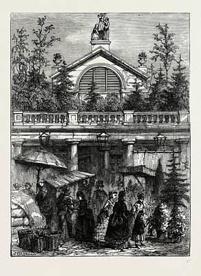 Garden Entrance Drawing - Entrance To Covent Garden Market by Litz Collection