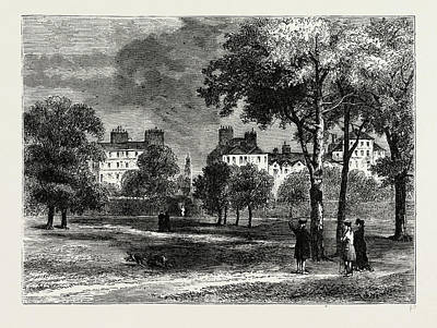 Hyde Park Drawing - Entrance To Grosvenor Street From Hyde Park by Litz Collection