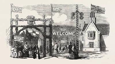 Garden Entrance Drawing - Entrance To Hawkstone Park 1854 by English School