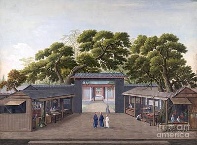Tea Tree Flower Photograph - Entrance To Honam Temple, China, 1800s by British Library