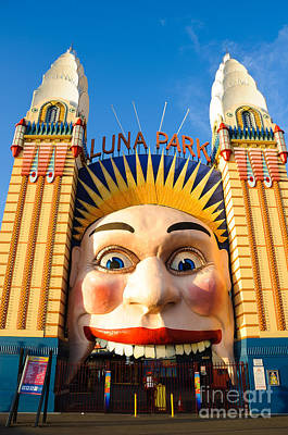 Photograph - Entrance To Luna Park - Sydney - Australia by David Hill