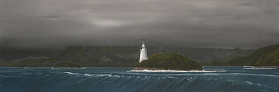 Painting - Entrance To Macquarie Harbour - Tasmania by Tim Mullaney
