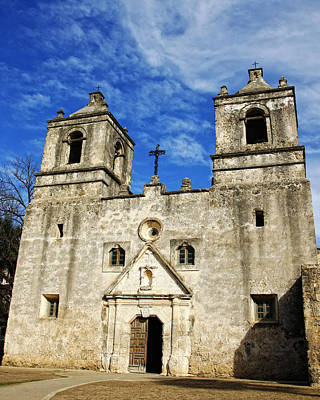 Photograph - Entrance To Mission Concepcion by Lincoln Rogers
