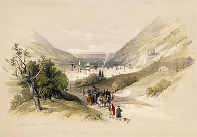 Volumes Drawing - Entrance To Nablous, April 17th 1839 by David Roberts