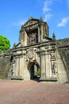 Reliefs Photograph - Entrance To Old Fort Santiago by Michael Runkel