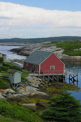Photograph - Entrance To Peggys Cove by Georgia Hamlin