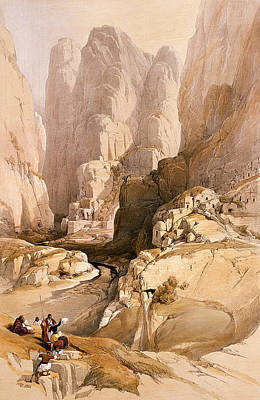 Petra Painting - Entrance To Petra by David Roberts