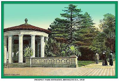 Painting - Entrance To Prospect Park- Brooklyn N Y- 1910 by Dwight Goss