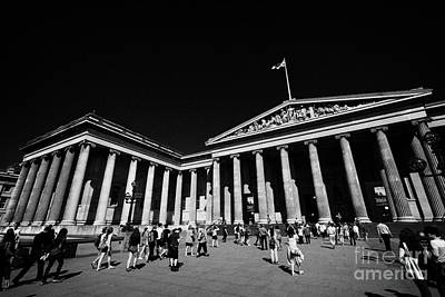 Bloomsbury Photograph - entrance to the british museum London England UK by Joe Fox