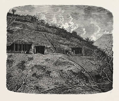 Cavern Drawing - Entrance To The Cave-temples Of Kanhari by English School