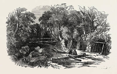 Entrance To The Coalmine Of Heraclea On The Black Sea Art Print by English School