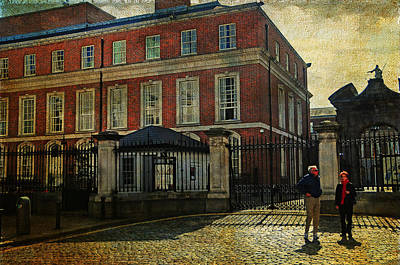 Photograph - Entrance To The Dublin Castle. Streets Of Dublin. Painting Collection by Jenny Rainbow