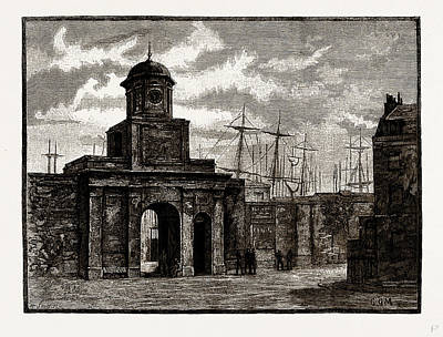 Dock Drawing - Entrance To The East India Docks, Blackwell by Litz Collection