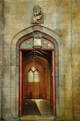 Entrance To The Gothic Revival Chapel. Streets Of Dublin. Painting Collection Art Print by Jenny Rainbow