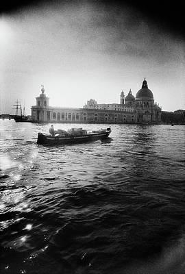 Photograph - Entrance To The Grand Canal, Close To The Basilica Of Santa Maria Della Salute, Venice, Italy by Simon Marsden