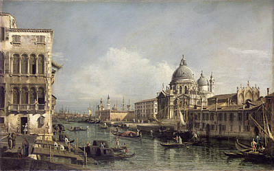 Venetian Architecture Painting - Entrance To The Grand Canal, Venice by Bernardo Bellotto