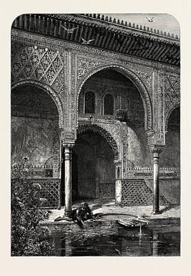 Entrance To The Hall Of Ambassadors, Ganada Art Print by Spanish School